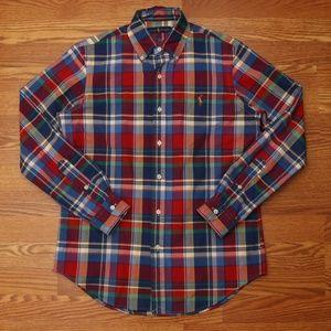 Ralph Lauren Casual Button Down Shirt Plaid